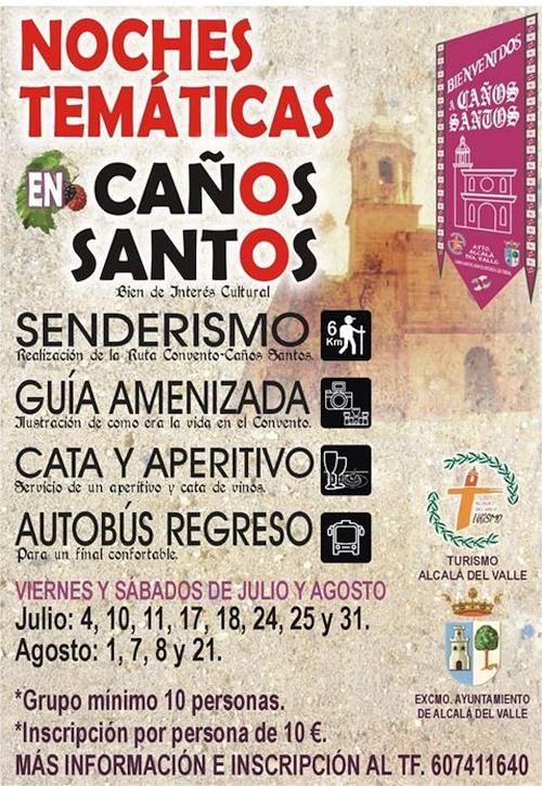 Noches Temáticos en Caños Santos - Verano 2020