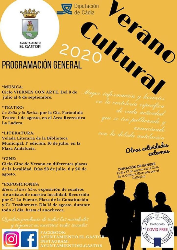 Verano Cultural El Gastor Programacion general 2020