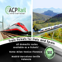 Travel across Spain by train