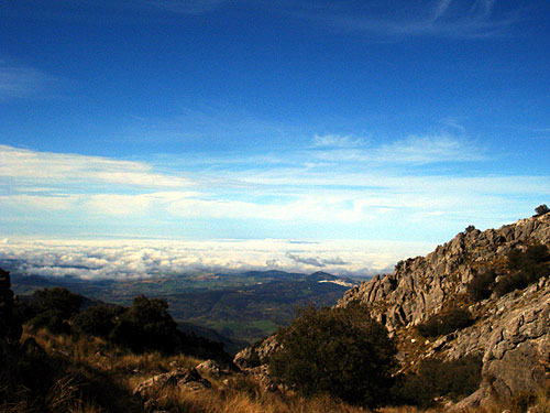 Clouds from the top of Torreon in the Sierra de Grazalema