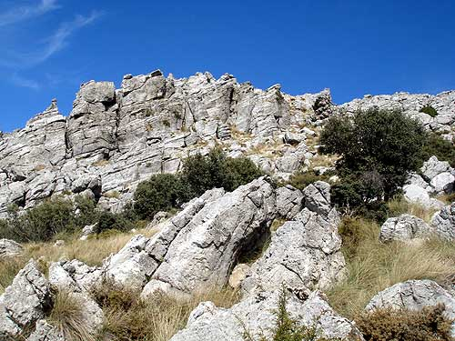 The peak of Torreon in the Sierra de Grazalema