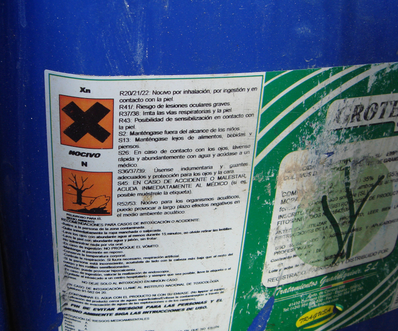 The chemicals clearly state that they are a danger to wildlife if not used correctly
